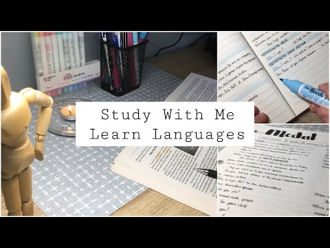 Study With Me №19 | Учись Со Мной | Английский | Немецкий | ЗНО | ЕГЭ | Learn Languages | Мотивация