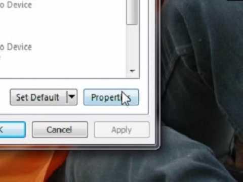 Setup Sound For Camfrog (Windows Vista & Windows 7)