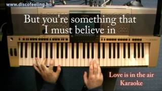 Love is in the air - Lyrics, karaoke