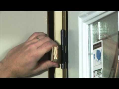 Checking for Plumb \u2013 Mastercraft® Exterior Door & Checking for Plumb \u2013 Mastercraft® Exterior Door - YouTube