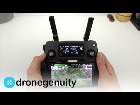 Controller Display Screen Overview - DJI Mavic Pro
