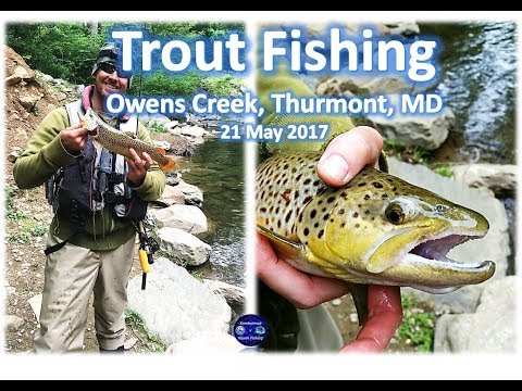 Trout Fishing At Owens Creek, Thurmont MD, 21 May 2017