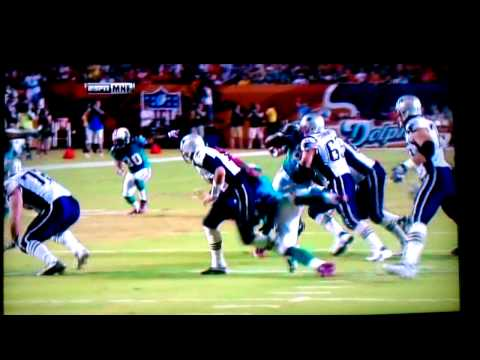 Miami Dolphins Cameron Wake sacks Tom Brady