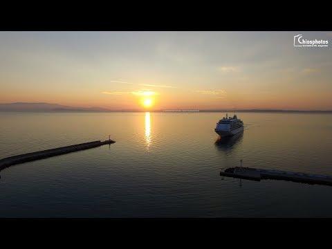 Κρουαζιερόπλοιο Silver Whisper στη Χίο - Silver Whisper cruise ship at Chios port