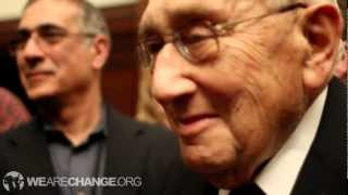 War Criminal Henry Kissinger confronted on Bilderberg and Mass Murder