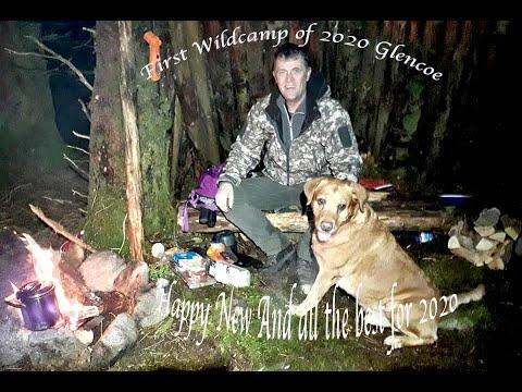 Glen Coe Wild Camp 1st Jan 2020 - YouTube