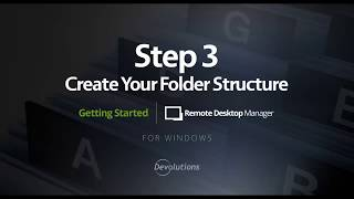 RDM - Step 3: Create your Folder Structure