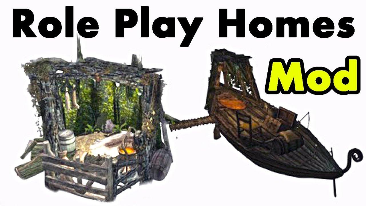 Skyrim Home Mod Riften Raft Shack For Role Play Youtube