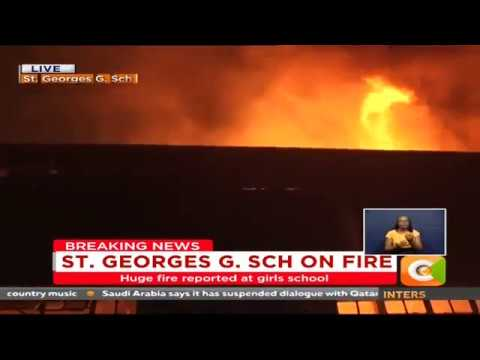 Fire fighters contain blaze at St. Georges Girls Secondary School, Nairobi
