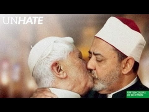 Benetton pulls kissing Pope photo - YouTube 57765d17adf