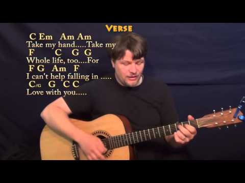 Can't Help Falling in Love (Elvis) Strum Guitar Cover Lesson in C with Chords/Lyrics