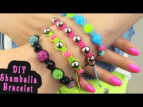 DIY Shamballa Bracelet! How To Make...