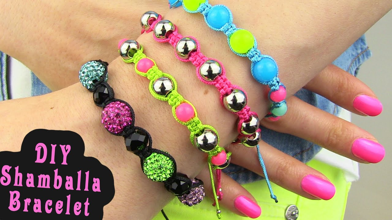 Diy Shamballa Bracelet How To Make Macrame Bracelets