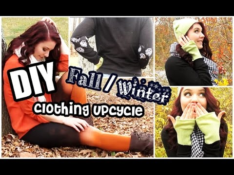 DIY Fall/Winter Clothing Upcycle! - YouTube