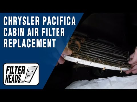 How To Replace Cabin Air Filter Chrysler Pacifica Youtube