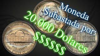 5 Centavos Vendidos por 20.000 Dólares | 5 centavos 1939 | 1939 5C doble Monticello, Full Steps
