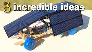 3 Wonderful ideas with Solar Batteries and Life Hacks