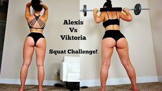 BIG BOOTY Girls Squat Contest: Viktoria vs Alexis, Who Will Win!