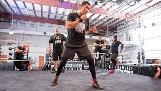 """Undefeated boxer """"The Great Wall"""" Taishan Dong tries out for WWE"""