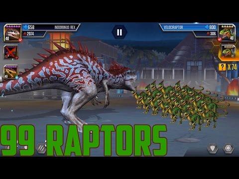 Revenge of raptors - Jurassic World The Game - 99 Raptors