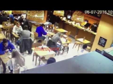 Difunden imágenes del robo a la joven brasileña en una cafetería céntrica