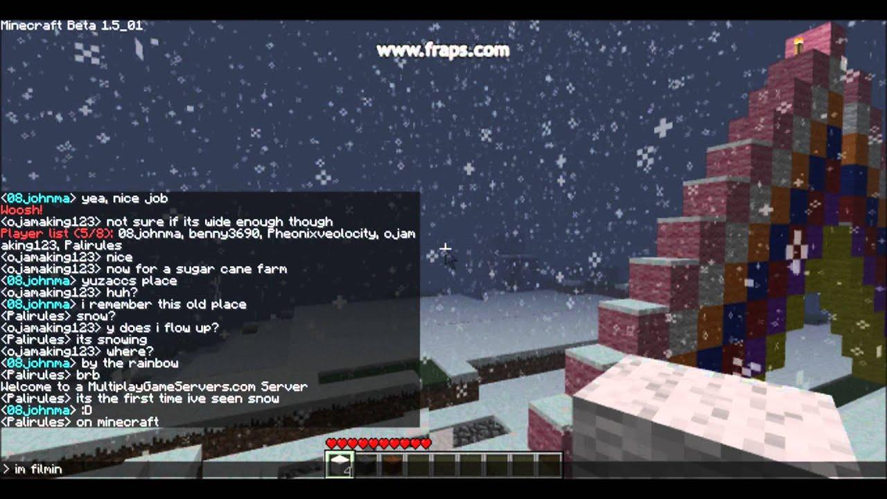 как сделать чтобы шел снег в майнкрафте #8