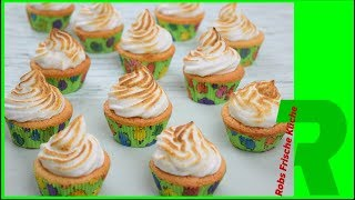 Eierlikör Cupcakes mit Marshmallow Fluff Topping