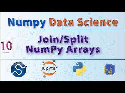Concatenate and Split Arrays Using NumPy, Python Data