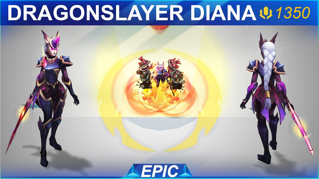 dragonslayer diana skin spotlight skingdom league of legends youtube dragonslayer diana skin spotlight skingdom league of legends