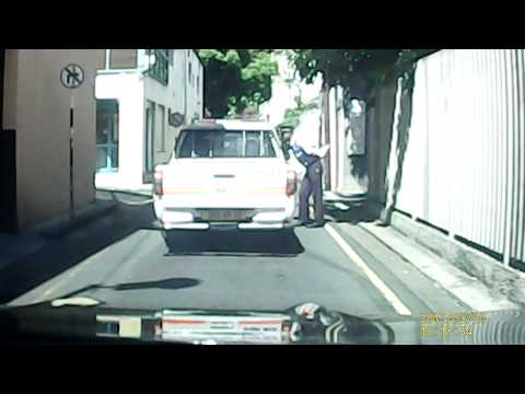 Mauritius Police engaging conversation and not giving a damn about others