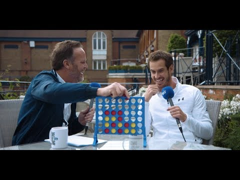 Can world tennis No.1 Andy Murray win a game of Connect 4?