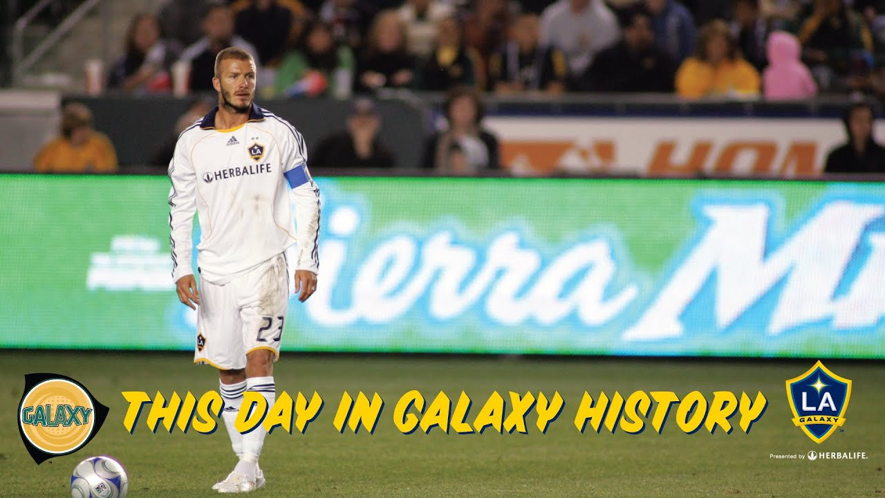 15e3a2ea96c David Beckham scores the all-time longest distance goal in MLS | May 24th,  2008. LA Galaxy