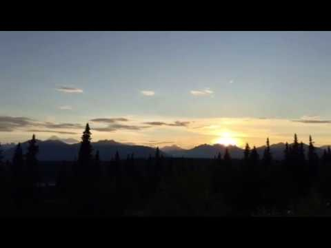 Summer Sunset of Mount Denali