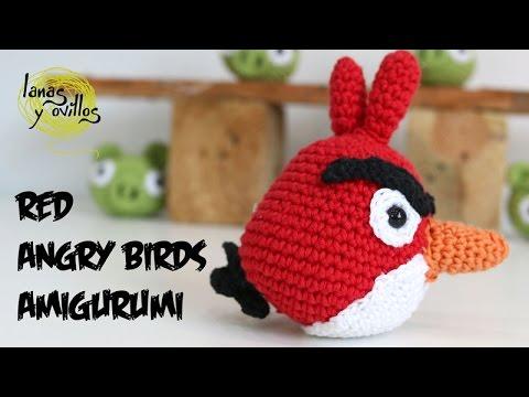 Tutorial Amigurumi Angry Bird : Tutorial angry birds rojo amigurumi red de english subtitles