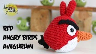 Tutorial Angry Birds Rojo Amigurumi Red 1 de 2 (English subtitles)