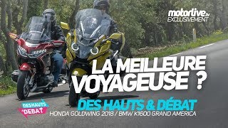 DUEL HONDA GOLDWING vs BMW GRAND AMERICA  | DES HAUTS ET DEBAT