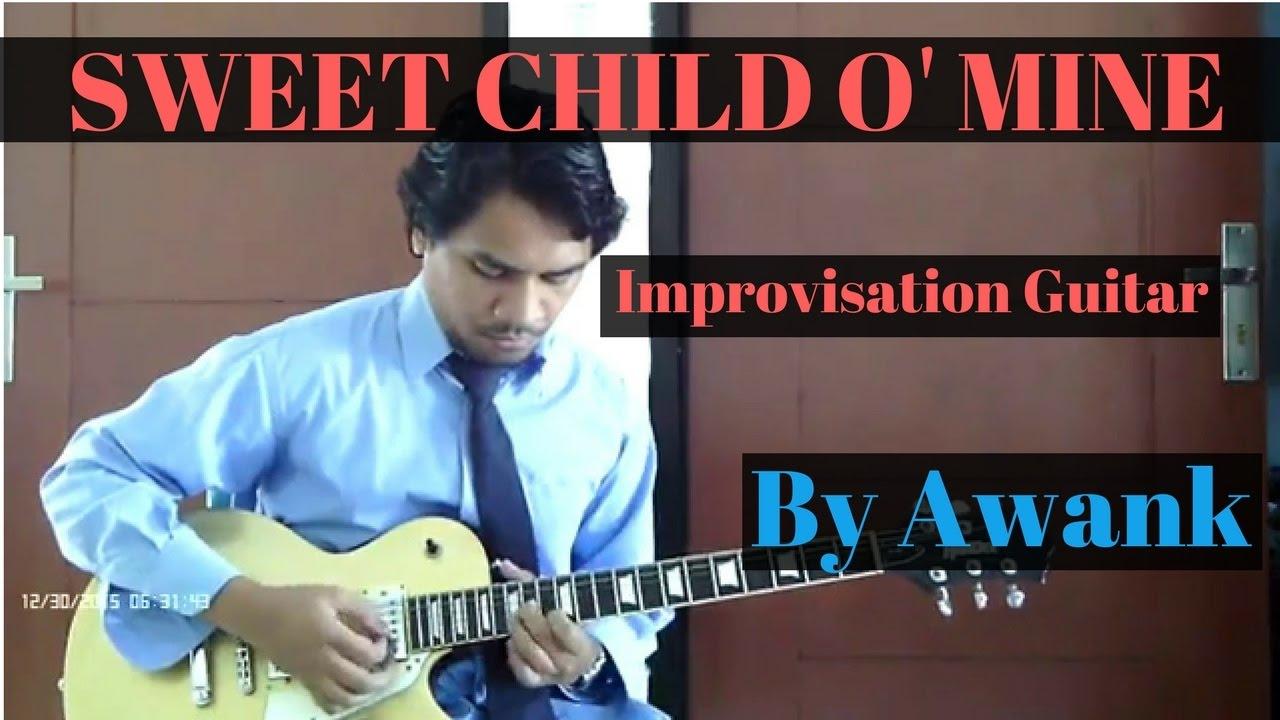 awank sweet child o 39 mine improvisation guitar cover gnr cover youtube. Black Bedroom Furniture Sets. Home Design Ideas