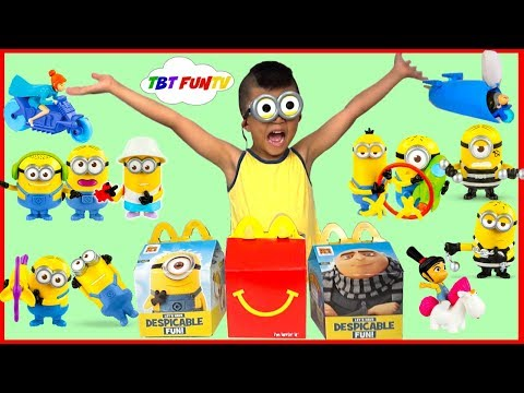 2017 Despicable Me 3 Minions Movie McDonalds Happy Meal Toys Full Set of 12