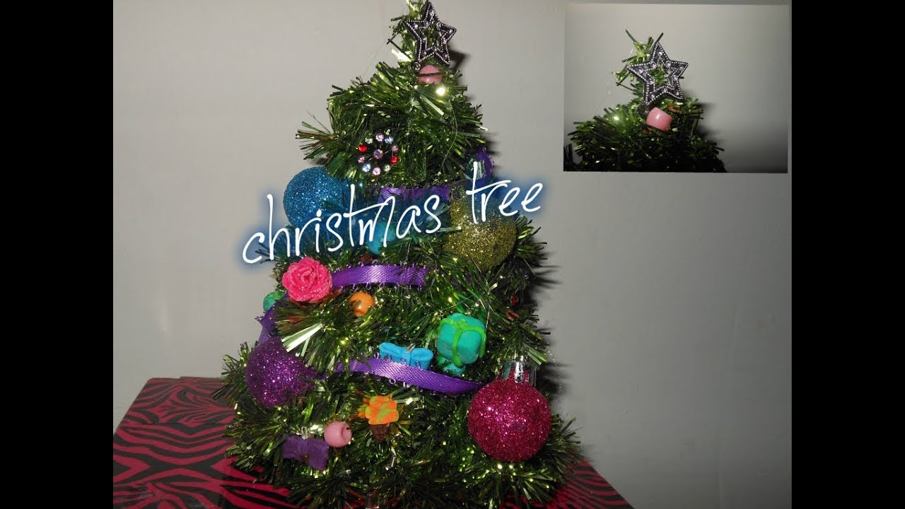 how to make doll christmas tree and decorate christmas tree