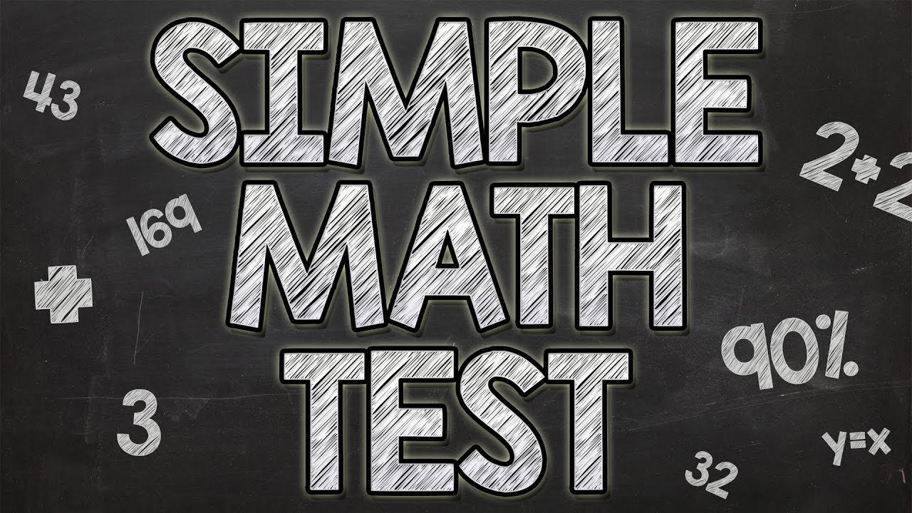 Simple Math Test - 90% fail - YouTube
