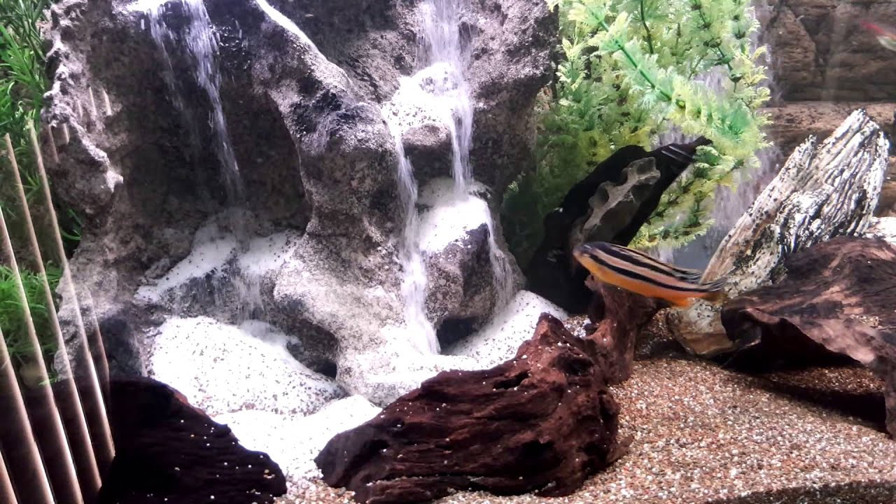 My aquarium waterfall sandfall doovi for Aquarium waterfall decoration