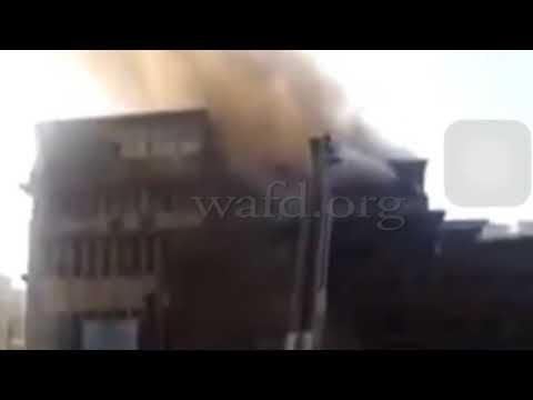 الحماية المدنية تسيطر على حريق نقابة التجاريين