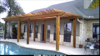 Took about 7 days after I got all hardware and wood onsite. A pergola is just framework without a solid roof, almost anybody can