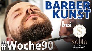 Barbier Besuch bei Salto Hair Artist | Das Minoxidil Experiment Woche90