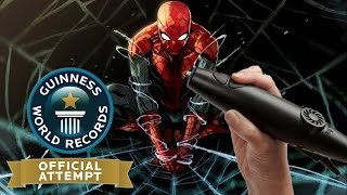 ✐ 3D Printing Pen - Spiderman - World Record Attempt ✐
