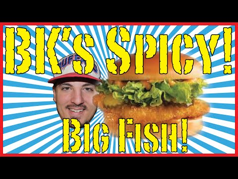 Burger King's Spicy Big Fish Sandwich - Food Review!