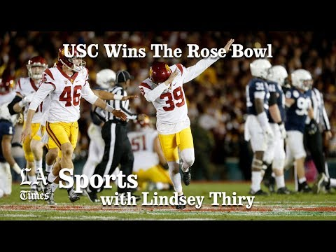 USC wins a a thrilling Rose Bowl over Penn State in final seconds