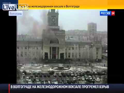 Footage of the suicide bombing of Russia's Volgograd train station - 29 12 2013