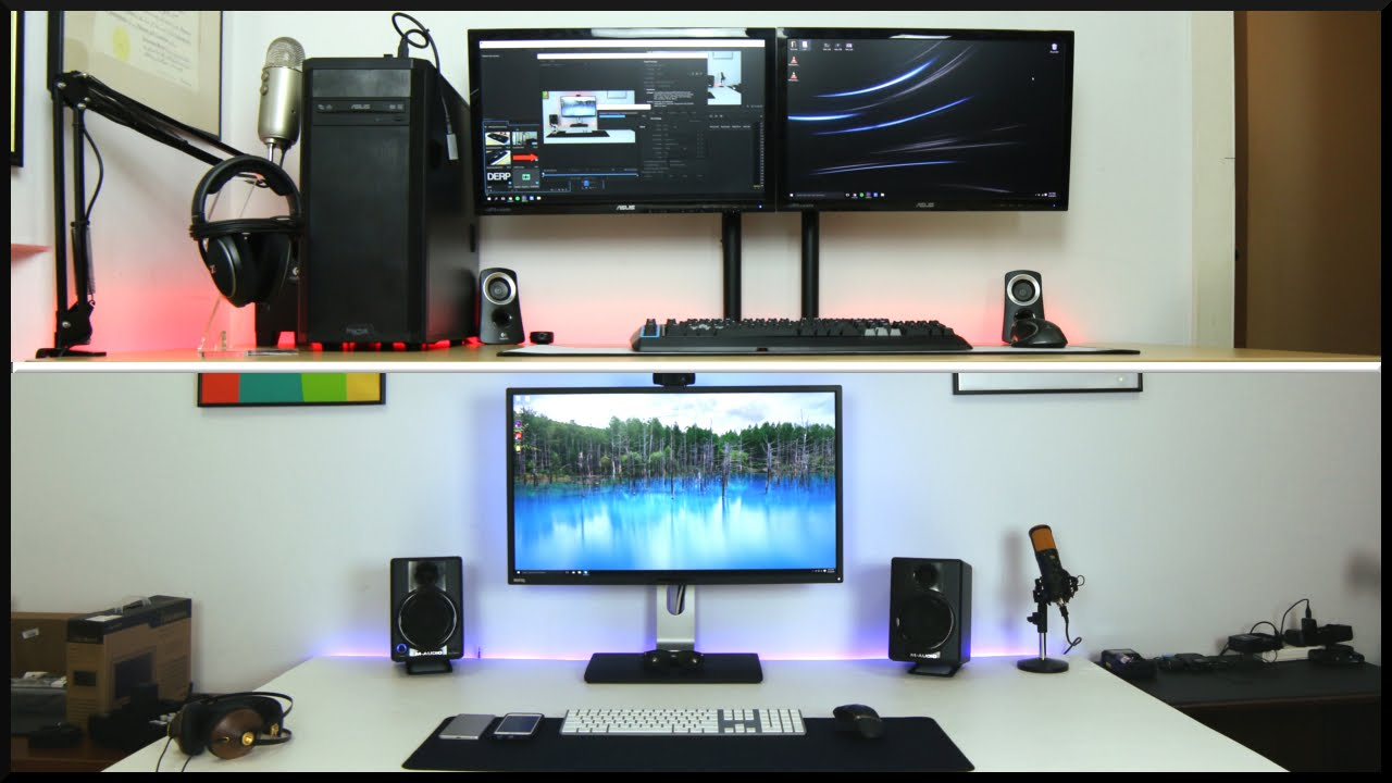 Ms Tech Desk Setups Early 2016 Youtube