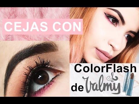 COMO HACER LAS CEJAS CON EL COLOR FLASH DE VALMY - PASO A PASO💕💫